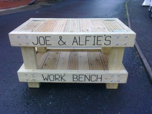 Bespoke child's work bench