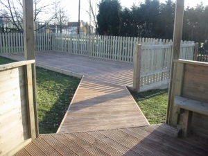 decking boardwalk and stage