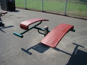 double sit up bench photo