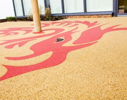 Red and Yellow Gravel Design