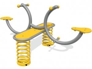 Curved springer seesaw