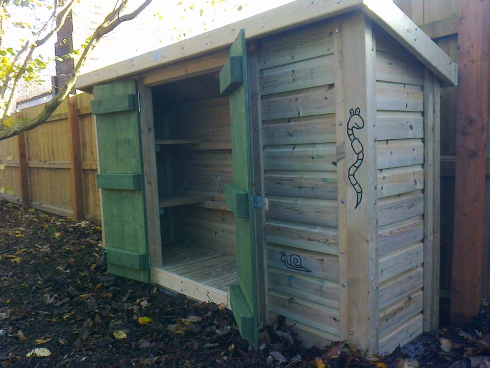 Wildlife area storage unit (open)