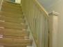 White oak stair installation