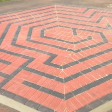 Block Paving Labyrinth